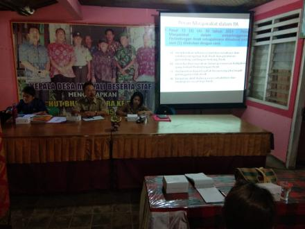 Pelatihan dan Pembinaan Ketahanan Keluarga Berbasis Tribina Di Desa Menyali