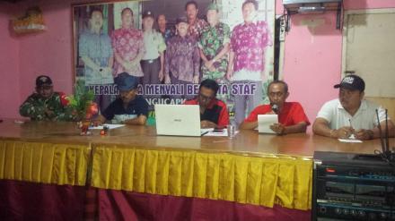 Rapat Penyusunan Kegiatan PORSENIDES Desa Menyali Tahun 2018