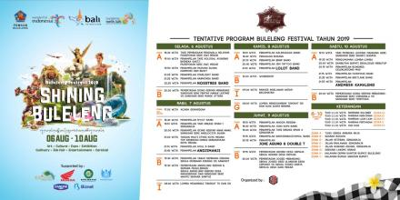 Jadwal Tentativ Buleleng Festival 2019