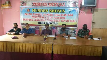 Kadis PMD Pimpin Langsung Musdesus, 188 KK menerima BLT-DD