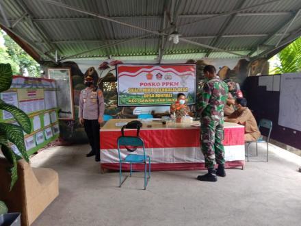 Dukung PPKM, Desa Menyali Perketat Pengawasan Kegiatan Masyarakat dan Dirikan Posko