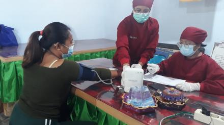 Kegiatan Vaksin Masal Gelombang II di Desa Menyali